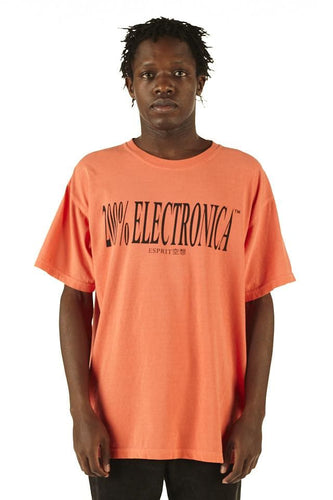 ESPRIT空想 200% Electronica Orange Logo Tee - SS20 - 100% Electronica
