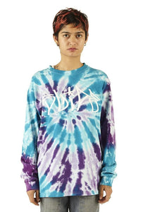 Slide Purple & Blue Long Sleeve Tee - Tie Dye - SS20 - 100% Electronica