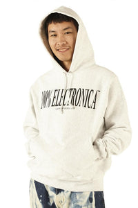 100% Electronica Champion® Logo Hoodie Sliver Gray - SS20 - 100% Electronica