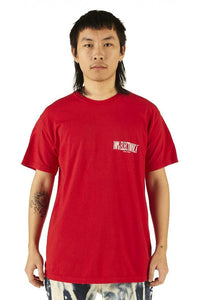 Surfing Incubo® Red Screen-printed Logo Tee - FW19/20 - 100% Electronica