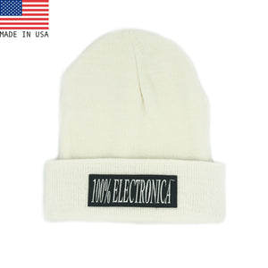 100% Electronica Beanie - White - FW20/21 - 100% Electronica