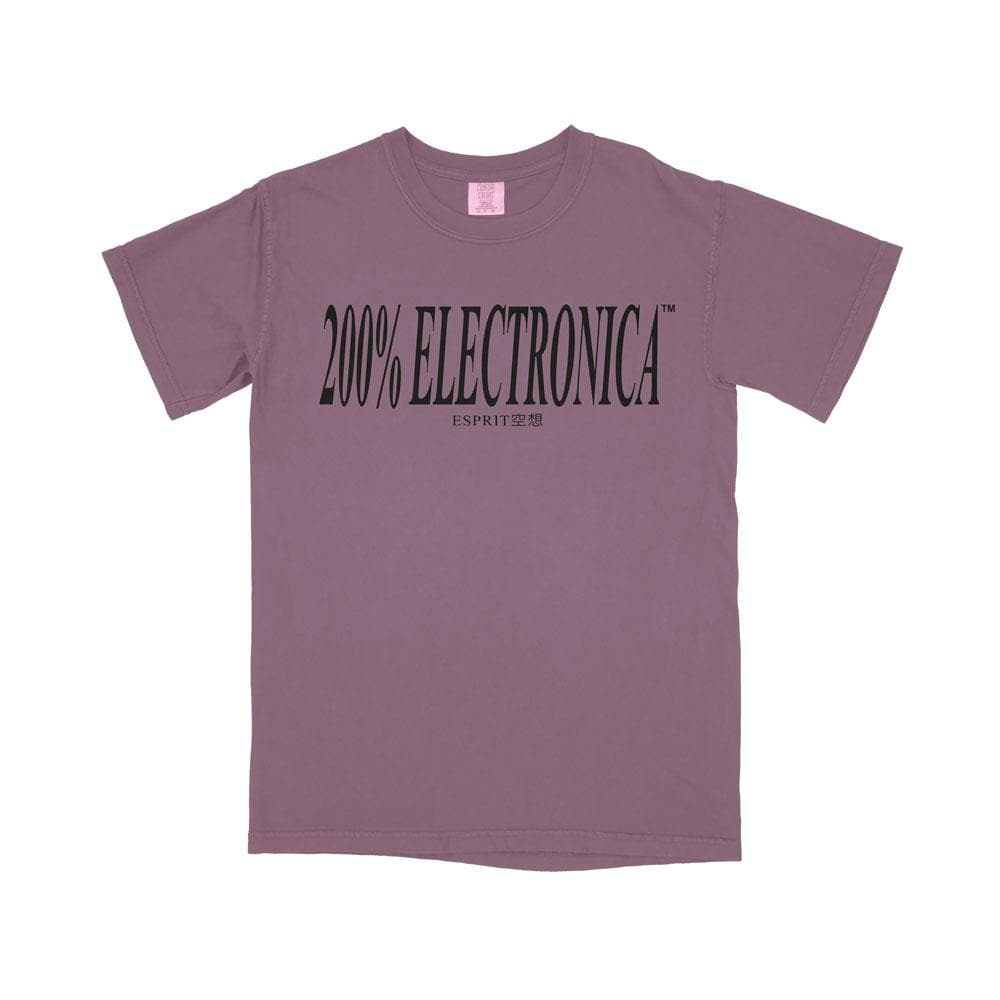 ESPRIT空想 200% Electronica Purple Logo Tee [Limited Edition] - FW19/20 - 100% Electronica