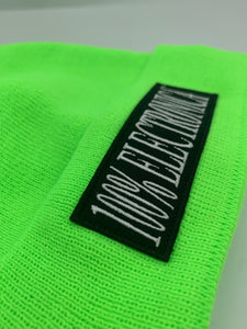 100% Electronica x New Era® Neon Green Summer Beanie - SS20 - 100% Electronica