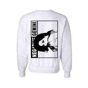 Bad Baby Champion® Sweatshirt by Negative Gemini - Silver - 100% Electronica