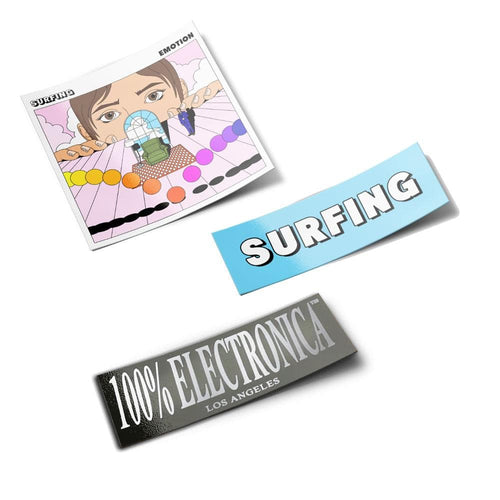 Surfing Sticker Pack - 100% Electronica