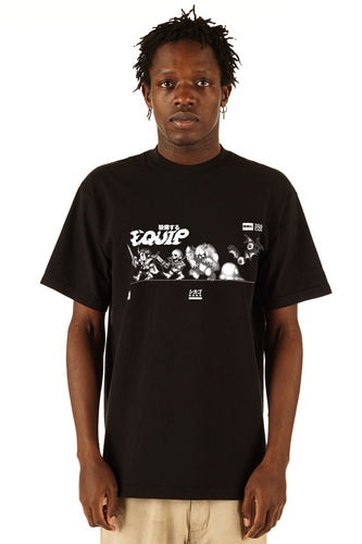 Equip - Short Sleeve Sleeve Tour Tee - 100% Electronica