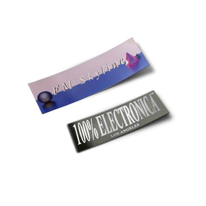 FM Skyline + 100% Electronica Stickers - 100% Electronica