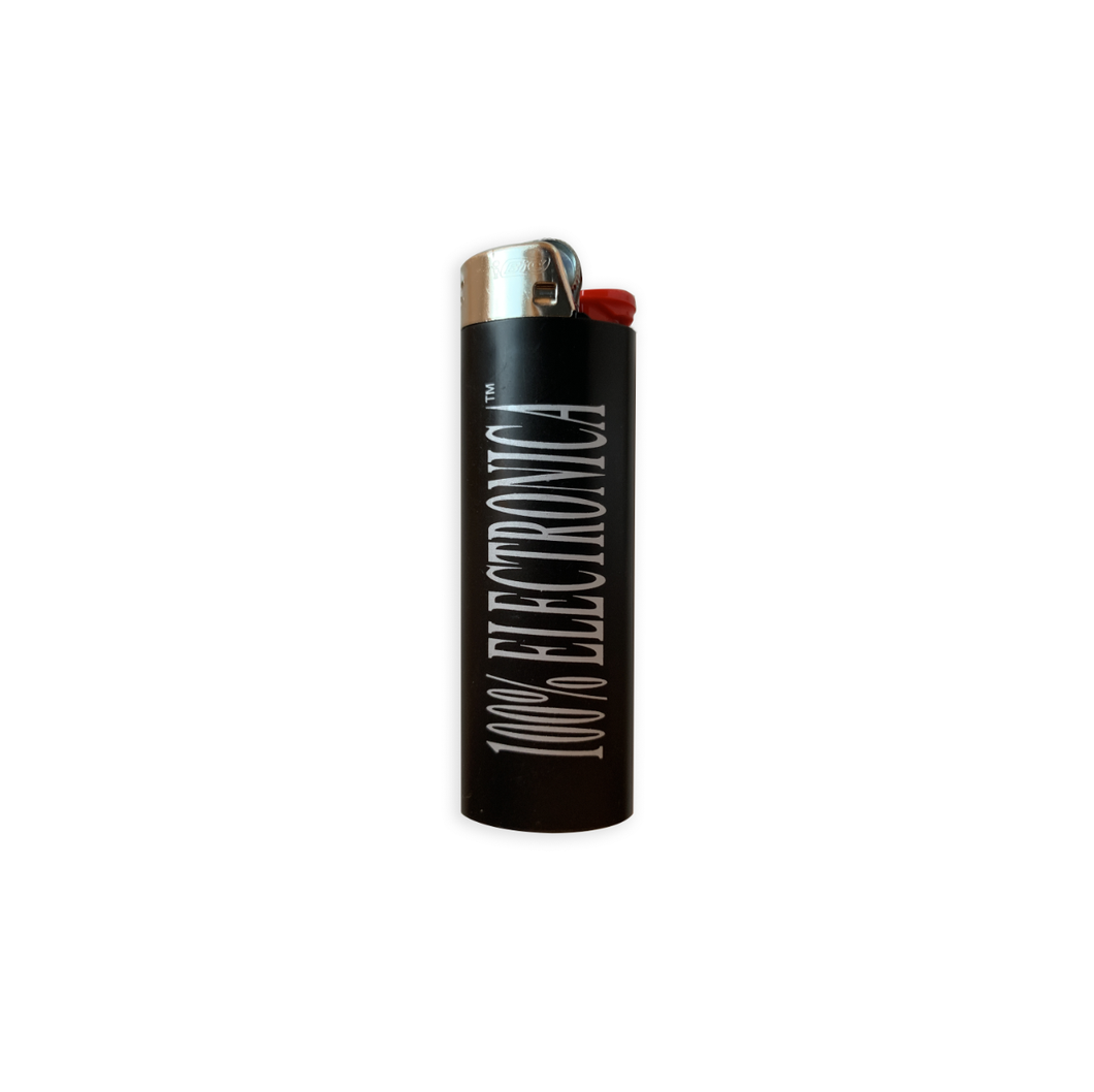 100% Electronica Logo Bic™ Lighter - 100% Electronica