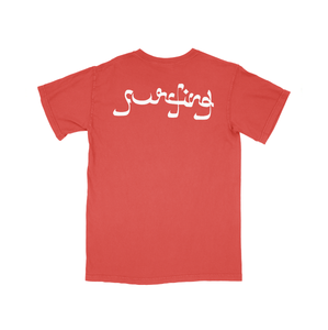 Surfing Screen-printed Logo Tee - Incubo® Red