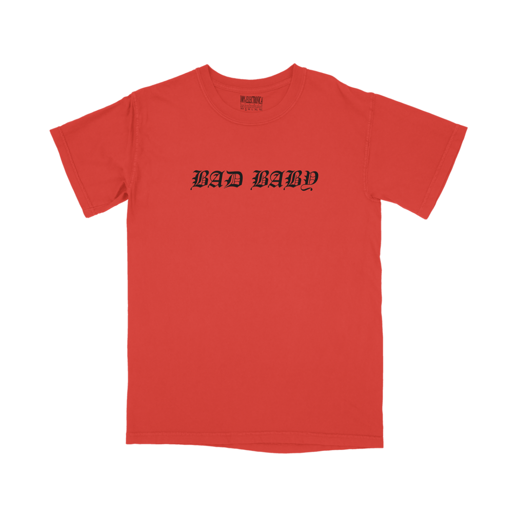 Negative Gemini Oversized Bad Baby Tee - Red - 100% Electronica