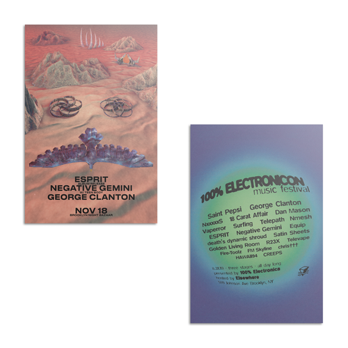100% ELECTRONICON + 200% ELECTRONICA Poster 2-Pack - 100% Electronica