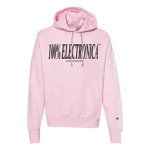 100% Electronica Champion® Pink Logo Hoodie - FW19/20 - 100% Electronica