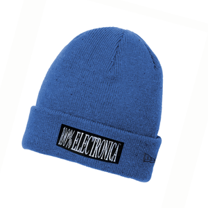100% Electronica x New Era® Blue Speckled Beanie - SS20 - 100% Electronica