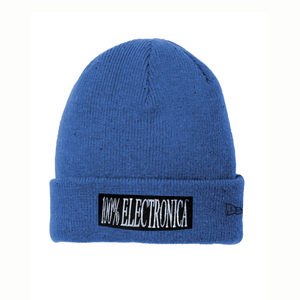 100% Electronica x New Era® Blue Speckled Beanie -FW19/20
