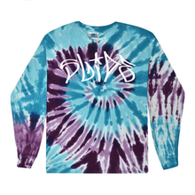Load image into Gallery viewer, Slide Purple & Blue Long Sleeve Tee - Tie Dye - SS20 - 100% Electronica