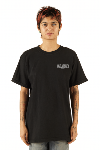 Surfing Screen-printed Black Logo Tee - FW19/20 - 100% Electronica