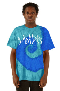 Slide Tee -  Turquoise Blue Tie Dye - SS20 - 100% Electronica