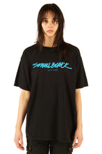 "Load image into Gallery viewer, Small Black Tampa 7"" + Small Black ""New York"" Tee + Sticker Pack - 100% Electronica"