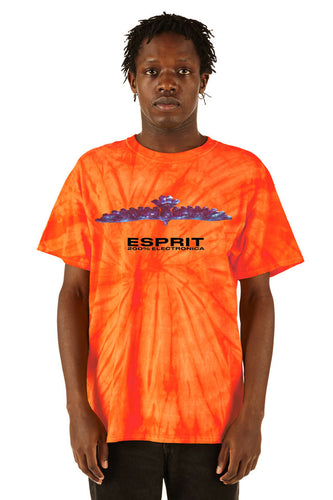 ESPRIT空想 200% Electronica Orange Tie Dye Bird Tee - SS20 - 100% Electronica