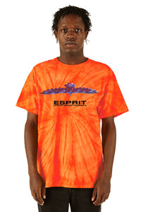 ESPRIT空想 200% Electronica Orange Tie Dye Bird Tee - FW20/21 - 100% Electronica