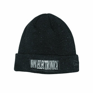 100% Electronica x New Era® Black Speckled Beanie -FW19/20 (Pre-Order) - 100% Electronica