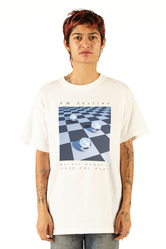FM Skyline Marble Madness CGI Expo Tee - SS20 - 100% Electronica