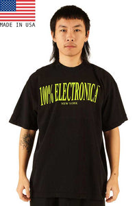 "100% Electronica ""New York"" Highlighter Yellow/Black Oversized™ Tee - SS21 - 100% Electronica"