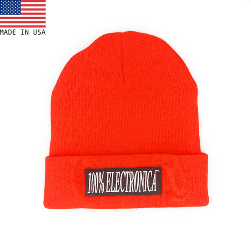 100% Electronica Beanie -Neon Orange - FW20/21 - 100% Electronica