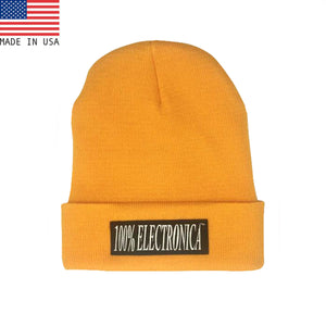 100% Electronica Beanie - Yellow - SS21 - 100% Electronica