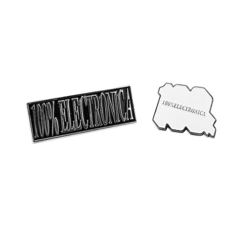 100% Electronica Pins (2-pack)