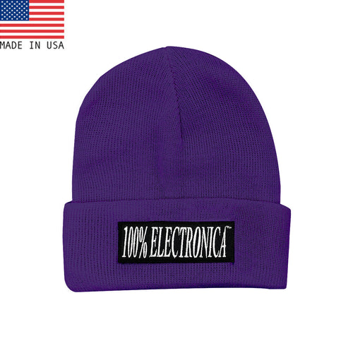 100% Electronica Beanie - Purple - FW20/21 - 100% Electronica