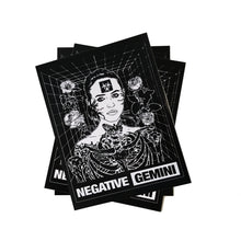 Load image into Gallery viewer, Negative Gemini Grid Sticker - 100% Electronica