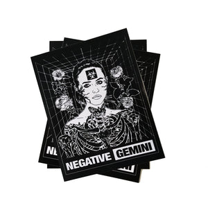Negative Gemini Grid Sticker