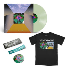 Load image into Gallery viewer, Glass Prism on Coke Bottle Clear® vinyl LP + SHIRT + STICKER Bundle by Windows 96 - 100% Electronica