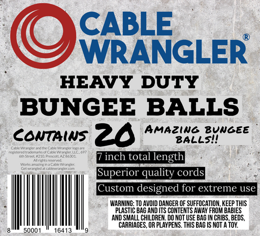 Cable Wrangler - Extra Heavy Duty Bungee Balls