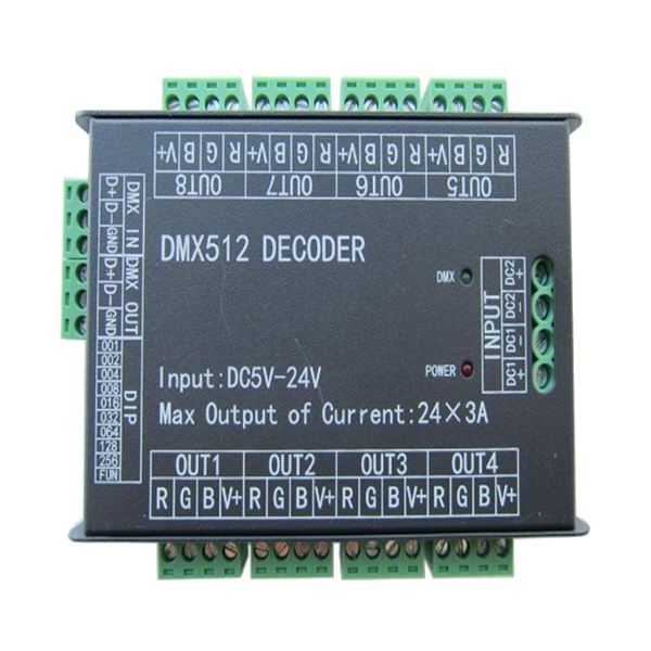 Multi 3A/CH LED Decoder Dimmer - 24 Channel