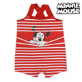 Baby's Sleeveless Romper Suit Minnie Mouse Red