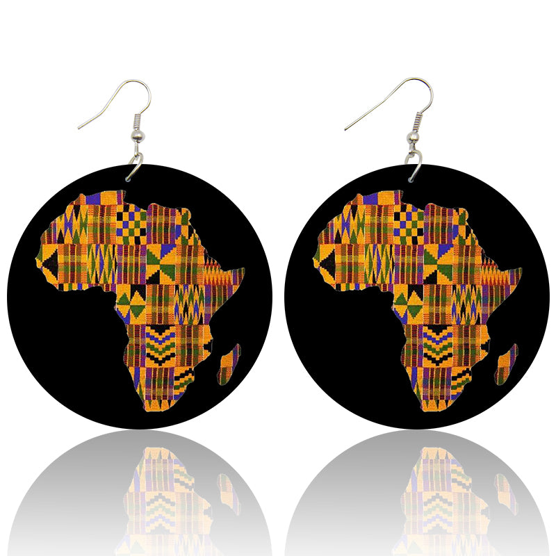 African continent in kente | African inspired earrings