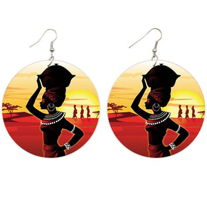 Africa inspired earrings | Horizon in Africa