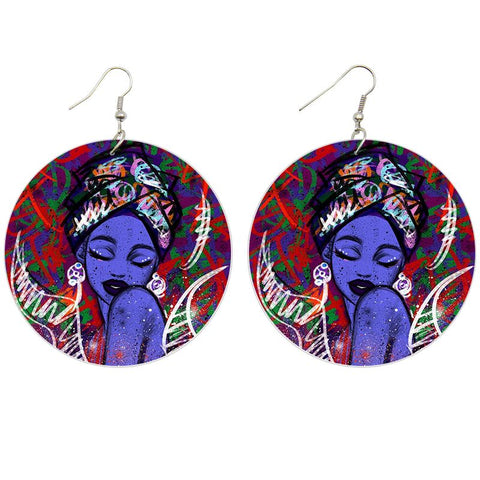Avatar woman | African inspired earrings