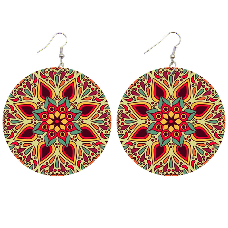 Red / Yellow flower | African inspired earrings