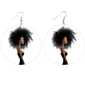 Big hair | African inspired earrings