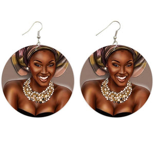Beautiful woman | African inspired earrings