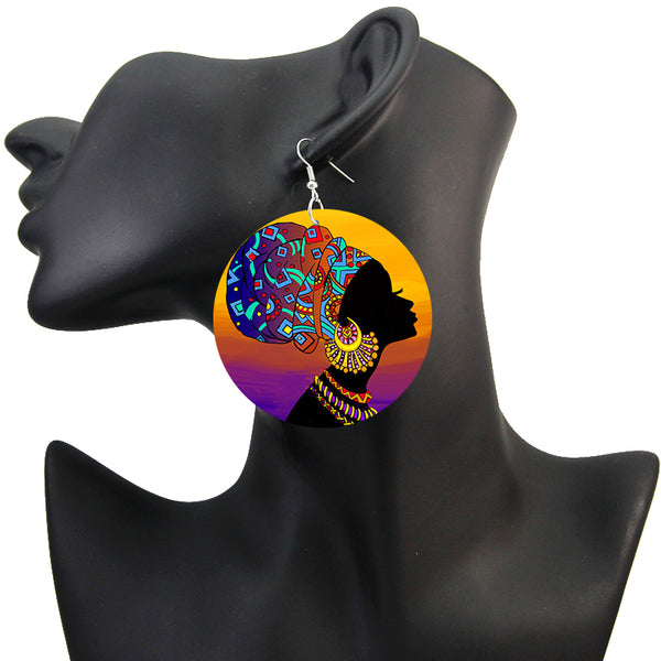 Turban with Jewelry | African inspired earrings