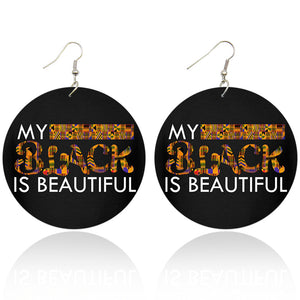 My black is beautiful | African inspired earrings