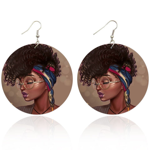 Girl with Glasses | African inspired earrings