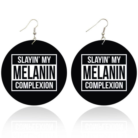 Slaying my melanin complexion | African inspired earrings