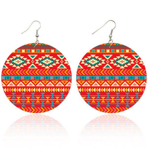 Orange red tribals | African inspired earrings