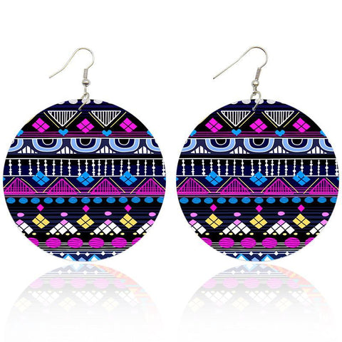 Purple Blue tribals | African inspired earrings