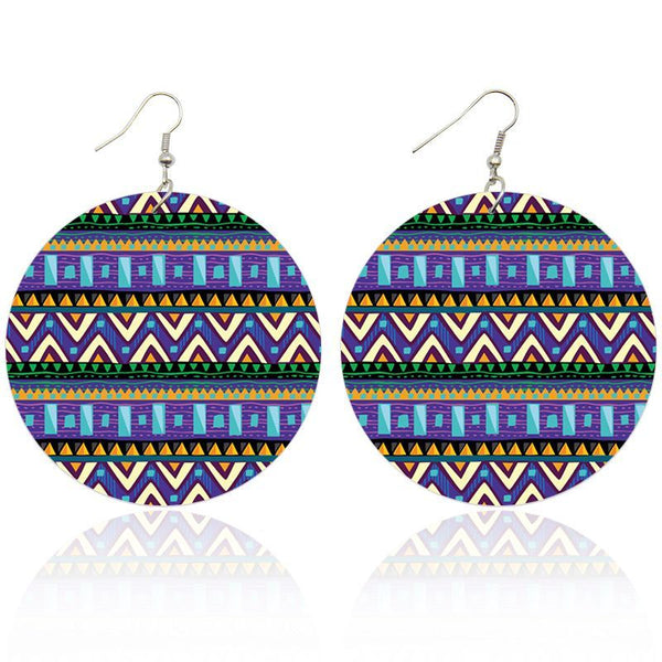 Blue / Green Tribal patterns | African inspired earrings